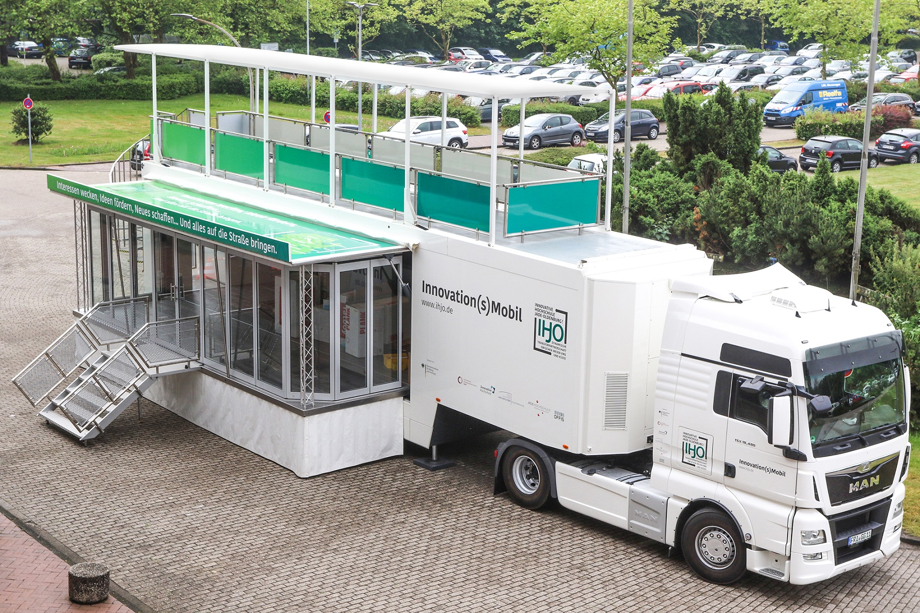 Das Innovation(s)Mobil der Innovativen Hochschule Jade-Oldenburg! Foto: Piet Meyer/Jade HS