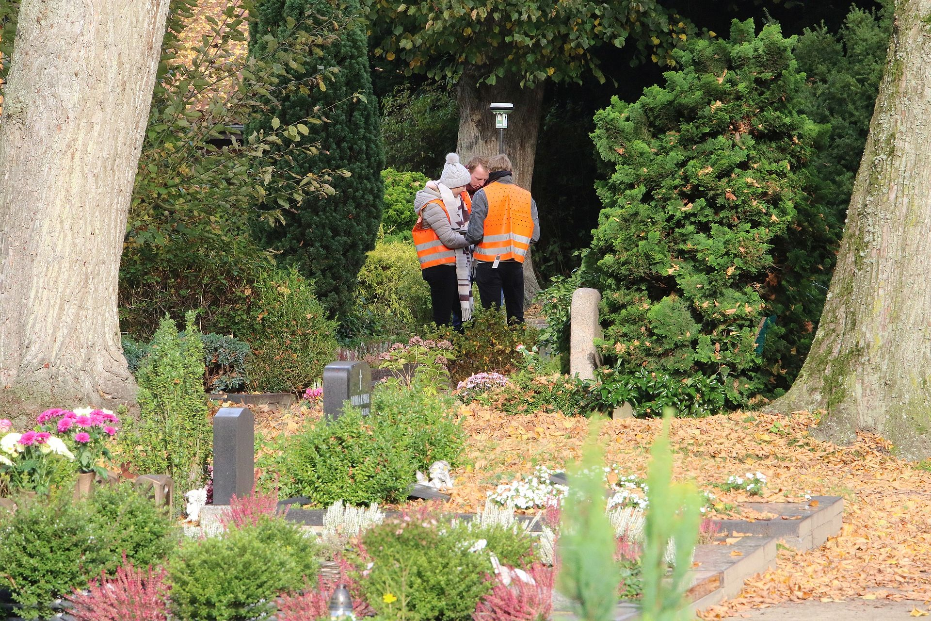 Studierende vermessen Neuen Friedhof in Oldenburg